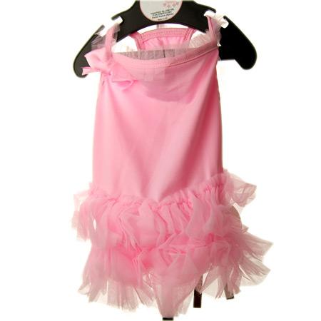 Vestito da Ballerina Rosa con Tulle per Cagnolina