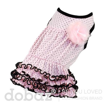 Vestito per Cerimonia Easy Chic Rosa a Pois