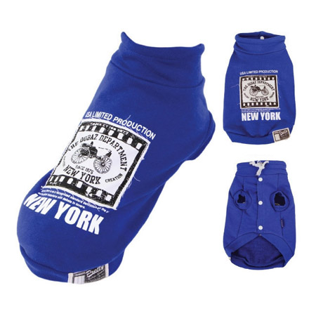 Felpa per Cane New York Blu