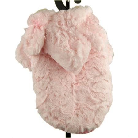 Cappotto con Pelliccia per Cani in colore Rosa