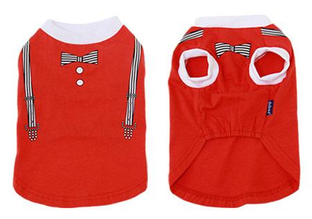 Maglietta Gentleman Rossa per cani di piccola taglia