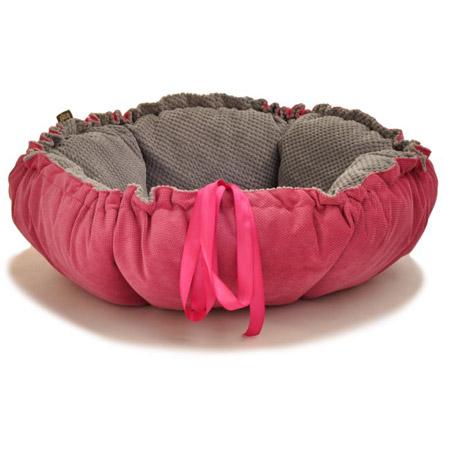 Cuccia Cuscino per Cani Kalendula in Rosa e Grigio