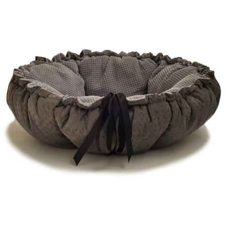 Cuccia Cuscino per Cani Kalendula in Nero e Grigio