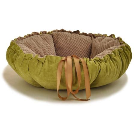 Cuccia Cuscino per Cani Kalendula in Verde e Beige