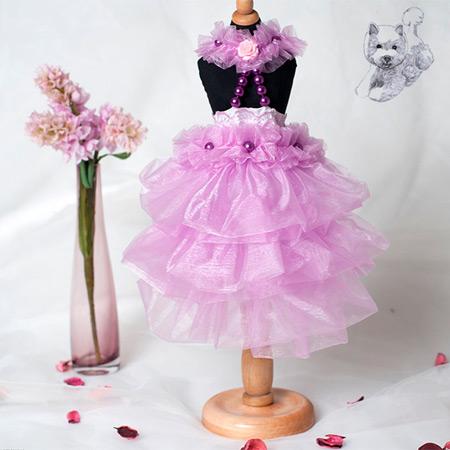 Vestito da Sposa Lilla per Cagnolina