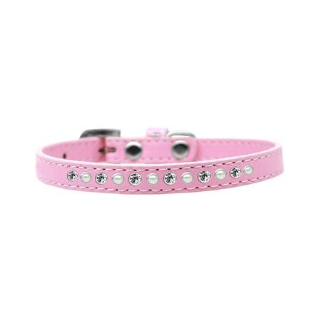 Collare Rosa Chiaro con Perle e Strass per Cani