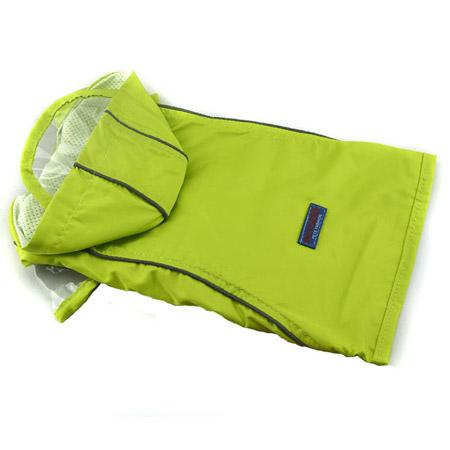 Impermeabile Cani Piccoli Verde Brillante con Velcro