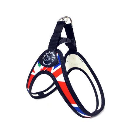 Pettorina Cani con Bandiera Regno Unito e Chiusura a Clip