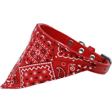 Collare Rosso con Bandana Far West per Cani Piccoli e Grandi