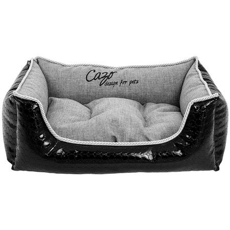 Cuccia sfoderabile per cani glossy nero e grigio - Cuccia per cani interno ...