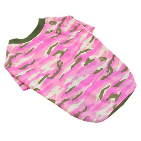 Maglietta Mimetica Rosa per Cani taglia media e grande