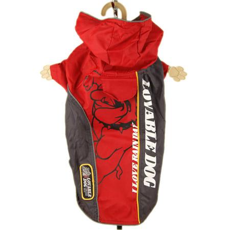 Impermeabile Bully Rosso in Nylon per Cani Piccoli