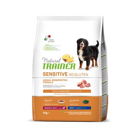 Croccantini Trainer Monoproteici Cani Adulti Taglia Media e Grande al Maiale