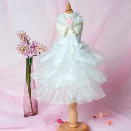 Vestito da Sposa Bianco per Cagnolina
