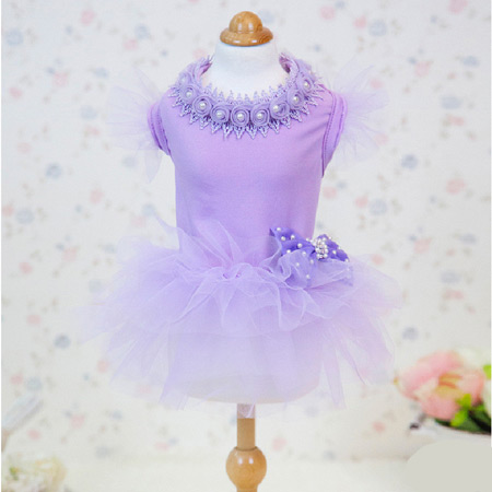 Vestito Incanto Lavanda con Gonna in Tulle