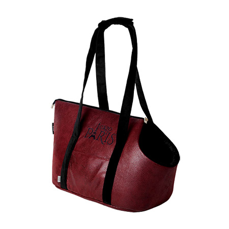Borsa per Cani Piccoli Paris Rouge in Similpelle