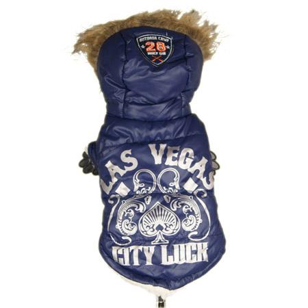Cappotto Blu per Cani Piccoli Las Vegas