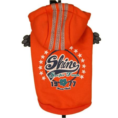 Felpa Sportiva Shine Arancione per Cani Piccoli