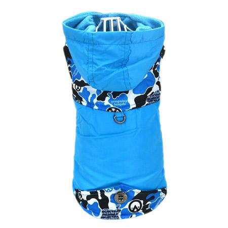 Cappotto per Cani piccoli in Azzurro Camouflage