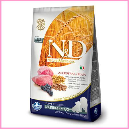 Croccantini N&D Low Grain Agnello e Mirtillo per Cuccioli taglia Media