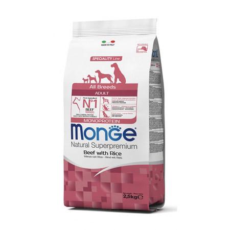 Crocchette Monge All Breeds Adult Monoprotein Manzo con Riso