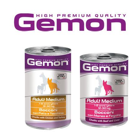 Scatolette Gemon per Cani in formato da 400gr e 1250gr