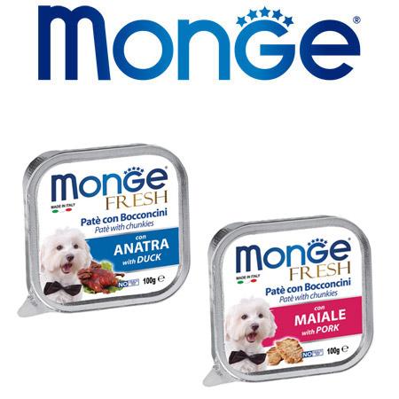 Monge Fresh per Cani in Vaschette da 100gr