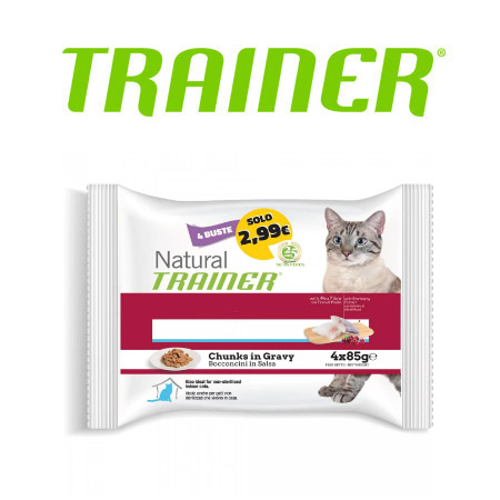 Bocconcini in Salsa Natural Trainer per Gatto da 85gr.