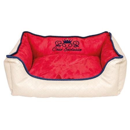 Cuccia Sfoderabile per Cane Premium Bianca e Rossa