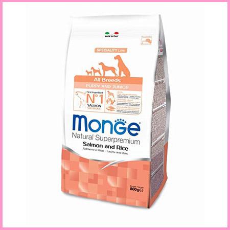 Croccantini Monge per Cuccioli All Breeds Puppy & Junior Salmone e Riso