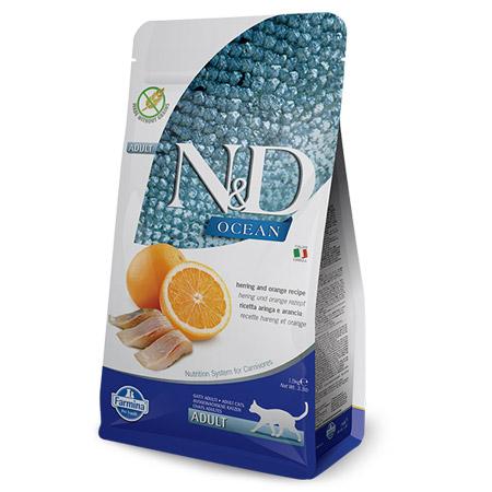 Croccantini N&D Gatto Grain Free con Aringa e Arancia