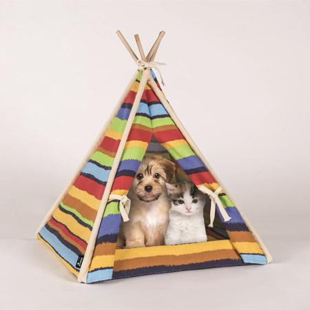 Cuccia per Cani Piccoli e Gatti a forma di Tenda Indiana