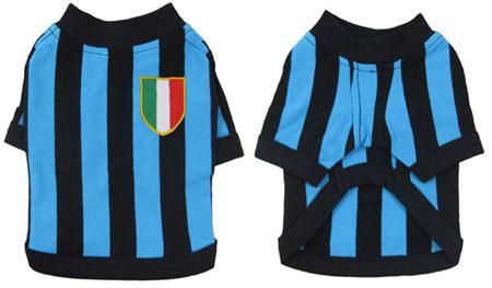 Maglia Calcio Nerazzurra per cani