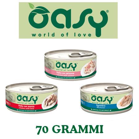 Umido Oasy per Gatto Specialità Naturali in lattina da 70gr