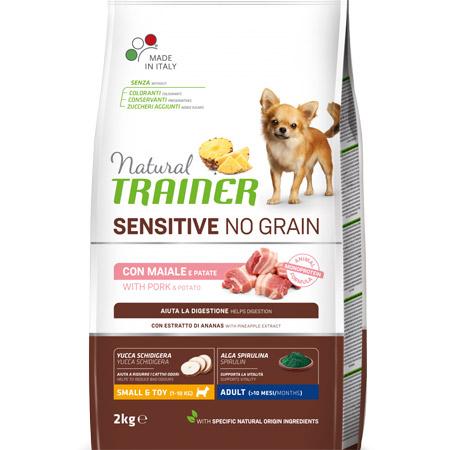 Croccantini Trainer Cani Piccoli Adulti Sensitive No Grain con Maiale e Patate