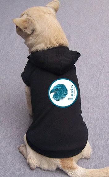 Maglietta Lazio nera con cappuccio