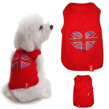 Canotta I Love UK rosso