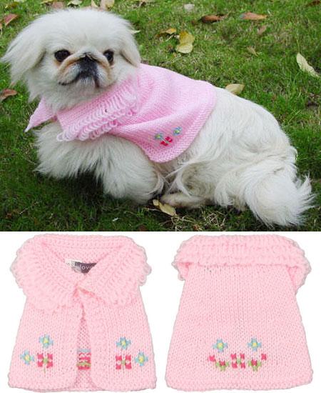Mantellina Rosa Ricamata per Cani