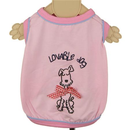 Maglietta Smanicata Love Rosa per cani