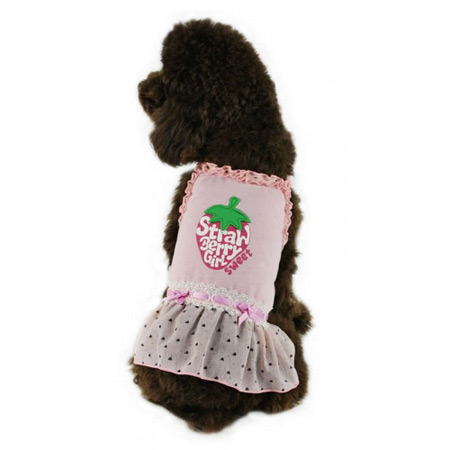 Vestito per cani Strawberry Rosa