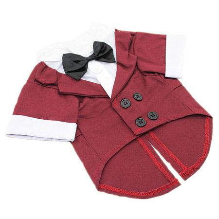 Frac per Cani in colore Rosso Bordeaux