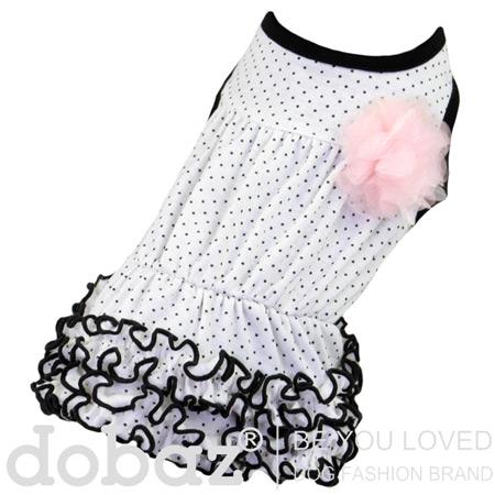 Vestito per Cerimonia Easy Chic Bianco a Pois