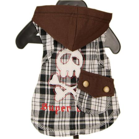 Maglietta per cani Super Dog con cappuccio