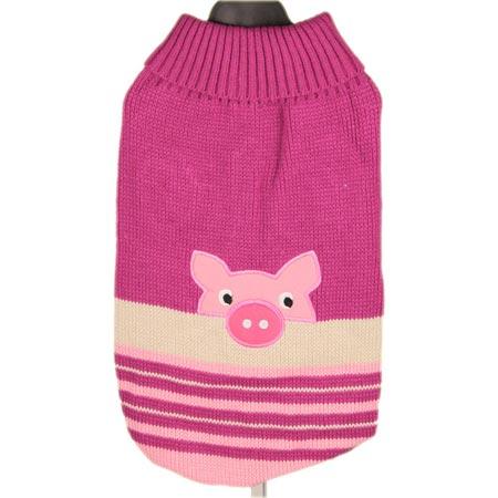 Maglione Piggy Fucsia per Cagnolini