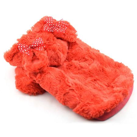 Cappotto con Pelliccia per Cani in colore Arancio
