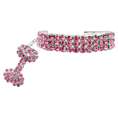 Collier Marilyn per Cani con Strass in Rosa