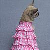 Vestitino Rosa con Balze
